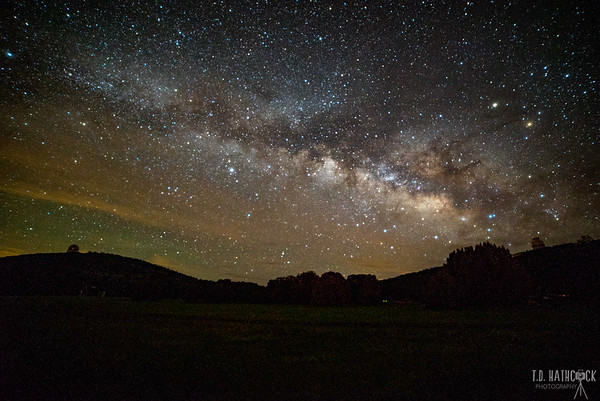 Milky Way at McDonald Observatory