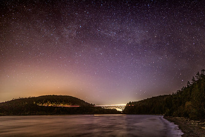 Deception Pass Bridge Milky Way