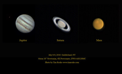 Composite of planetary images