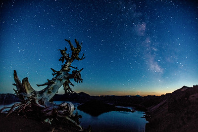 Milky Way over Crater Lake, OR