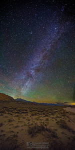 """Sierra Nights,"" Winter Milky Way over the Sierras Nevada Mountains and Alabama Hills, Inyo National Forest, California"