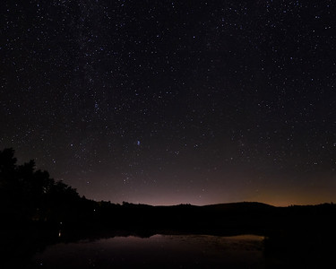 Deweys Pond in Quechee, VT under the stars