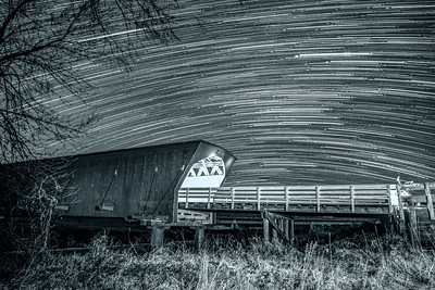 Star Trails Over Hogback Bridge