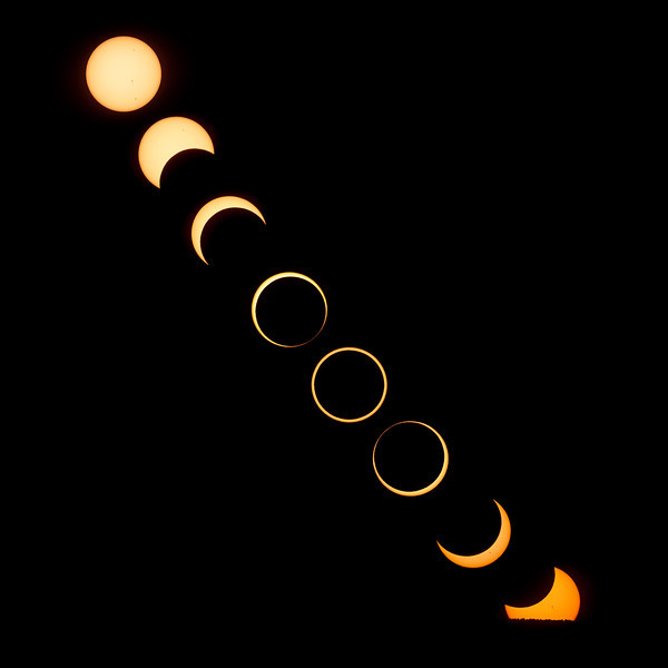 The Setting of the Annular Solar Eclipse of 2012, May 20