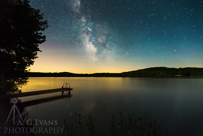 Milky Way over Kezar Lake