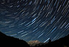Trailing Above North Cascades National Park in a Meteor Shower