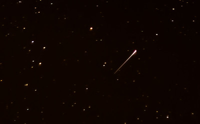 """shooting star"" during Orionid meteor shower 10/20/17"