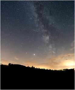 Blakeney boat and Milky Way, Blakeney, Norfolk, United Kingdom, 19 July 2020