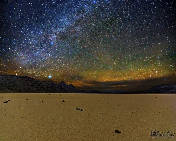 """Night at the Races,"" The Milky Way over Racetrack Playa, Death Valley National Park, California"