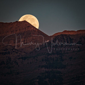 Moonset Sunrise at Mount Timpanogos 1x1