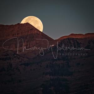 Moonset Sunrise at Mount Timpanogos 1x1