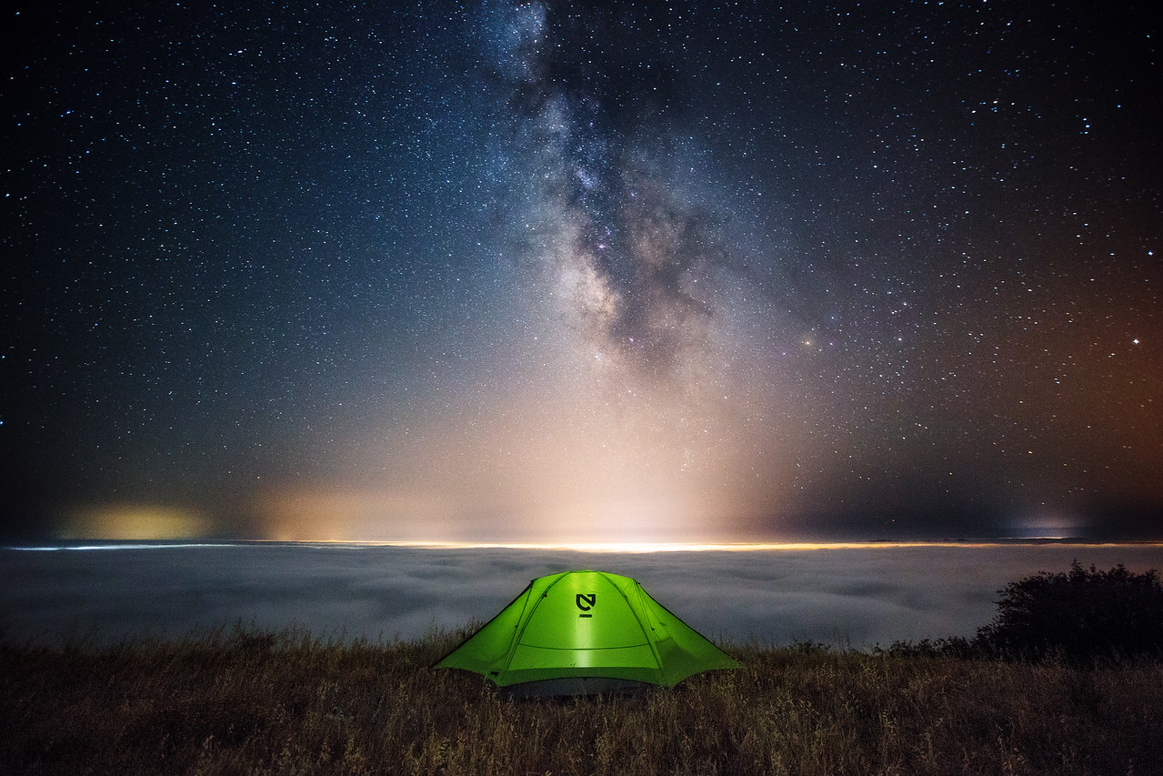 Camp outside of San Luis Obispo, California