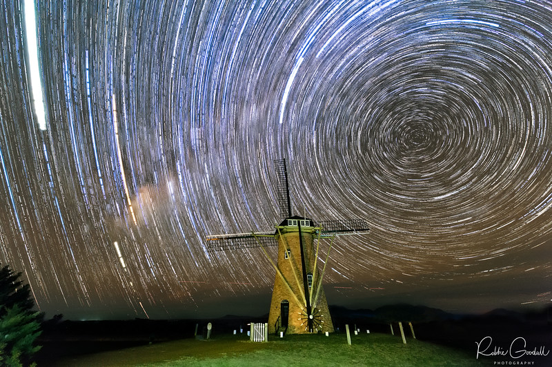 Startrails behind the Lily, Dutch Windmill - Amelup Western Australia