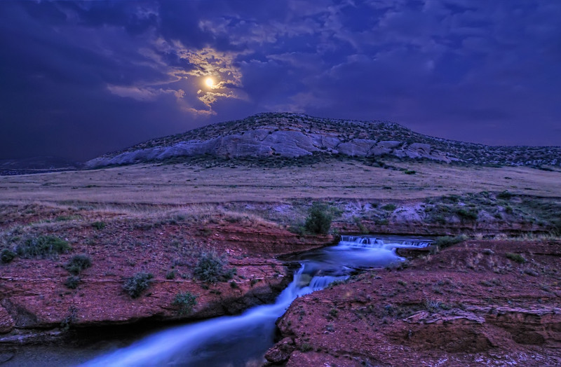 Moonshine Falls in the Laramie Foothills