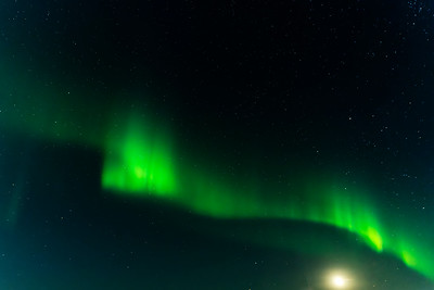 Aurora borealis, Seydisfjordur, Iceland, 1 September 2021