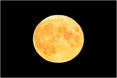 Full moon rising, Sea Palling, Norfolk, United Kingdom, 3 August 2020