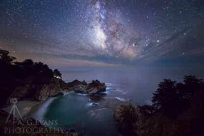 McWay Falls and the Milky Way