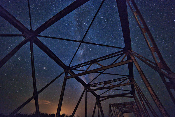 Trestle Bridge and Milky Way