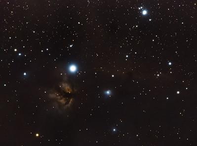 Barnard 33 - Horsehead Nebula and Flame Nebula