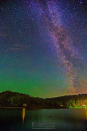 The Milky Way over Lake Coeur d'Alene and Carlin Bay, Harrison, Idaho