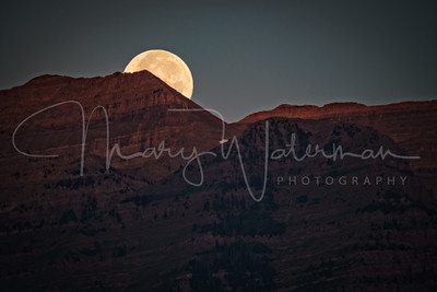 Moonset Sunrise at Mount Timpanogos 2x3