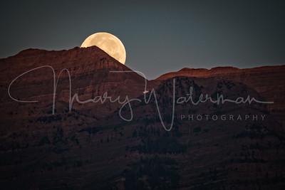 Moonset Sunrise at Mount Timpanogos 2x3
