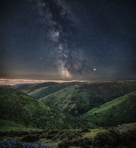 Milky Way above the Carding Mill Valley, Long Mynd