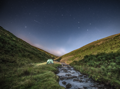 Starry night in the Brecon Beacons