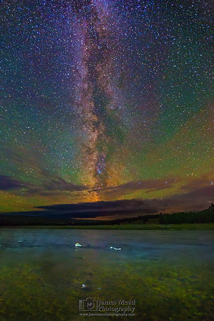The Milky Way over the Madison River, Yellowstone National Park