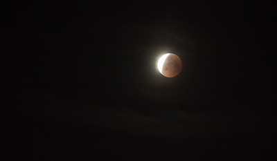 Lunar Eclipse 2018 -- Just a few minutes past the totality