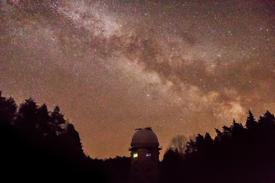 Milky Way rising behind Observatory Tower