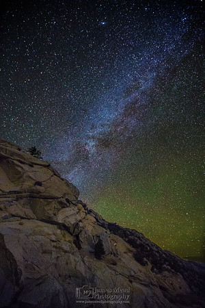 """""""Sierra Slope,"""" Winter Milky Way over the Sierras Nevada Mountains, Inyo National Forest, California"""