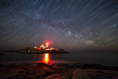 Nubble Lighthouse Milky Way