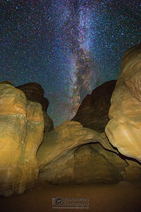 The Milky Way over Sand Dune Arch, Arches National Park