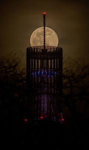 Moonrise at UAlbany Carillon