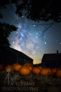 Pumpkins Under the Milky Way