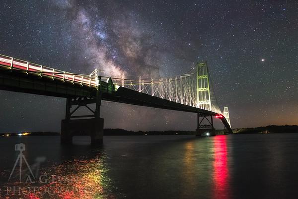 Lights of the Night on the Bridge