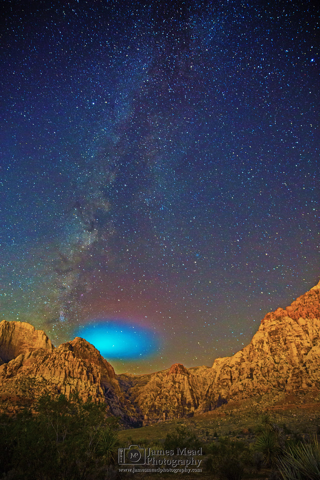 """""""Missiles and the Milky Way,"""" Red Rock Canyon National Conversation Area, Las Vegas, Nevada"""