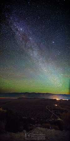 """""""Owen's Valley Nightlight,"""" Winter Milky Way from the Sierras Nevada Mountains, Inyo National Forest, California"""