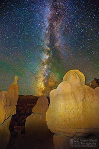 Milky Way over the Queen's Guards, Queen's Garden, Bryce Canyon National Park