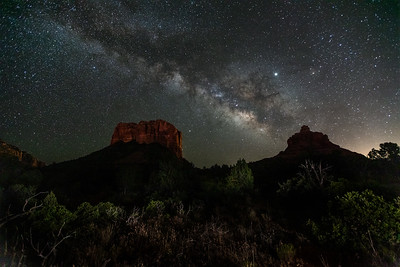 Milky Way over Bells Rock, Sedona