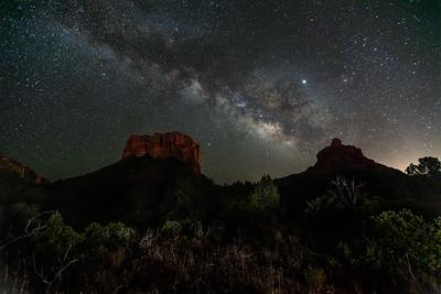 Milky Way over Bells Rock, Sedona