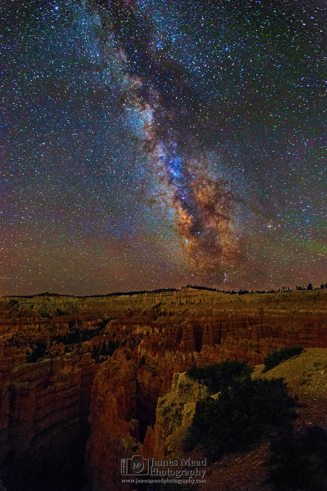 The Milky Way over the Silent City and Wall Street, Bryce Canyon National Park