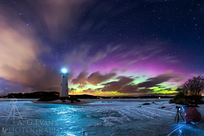 Loon Island Light Aurora 2