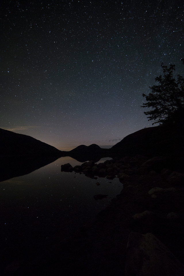 Stars are out at Jordon Pond