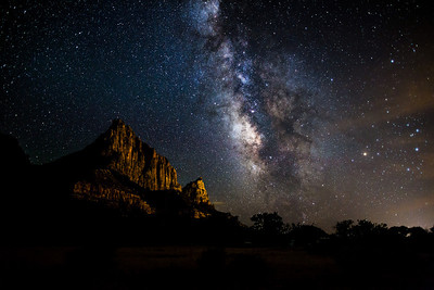Milky Way and the Watchman in Zion National Park