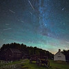 Perseid Meteor Shower Over Muster Field Farm Museum