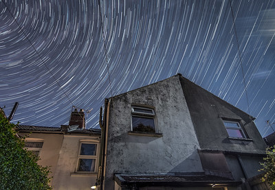 star trails, Cardiff
