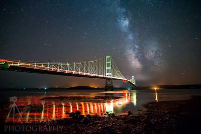 Deer Isle - Sedgwick Bridge Under the Milky Way