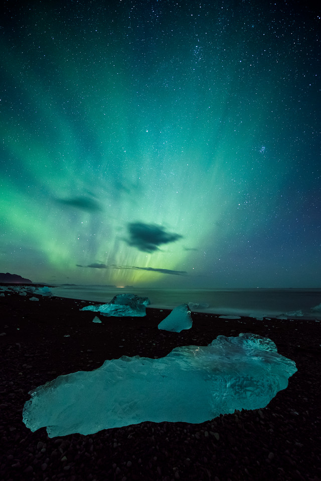 Aurora at Diamond Beach